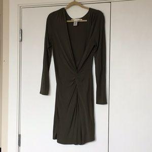Olive Green LS Jersey Dress